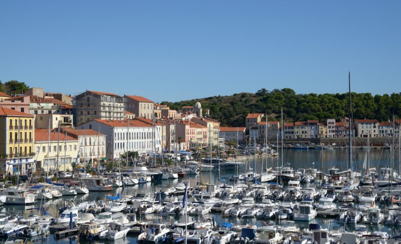 General view of Port-Vendre and the marina