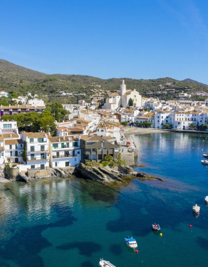 Panoramic view of Cadaques in the morning, Costa Brava, Catalonia, Spain